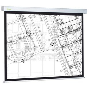 Рулонный матовый белый экран cactus Wallscreen CS-PSW-104x186