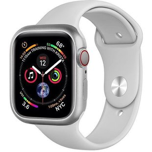 Чехол для Apple Watch series 4 44mm (COTEetCI Aluminium Magnet Case CS7058-TS) (серебристый)